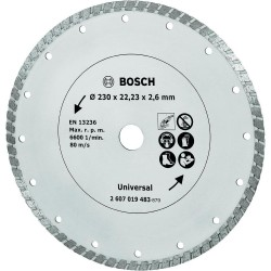 Диамантен диск BOSCH Turbo 230 mm
